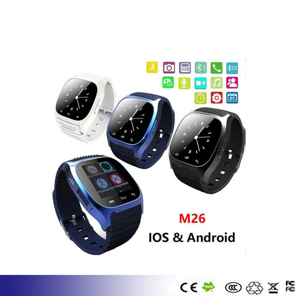 M26 Bluetooth Smartwatch Watch Smart Watch Wrist Watches for Samsung S4 S5 s6 s7 edge Note 4 5 6 7 HTC huawei xiaomi Android Phone Smartpho