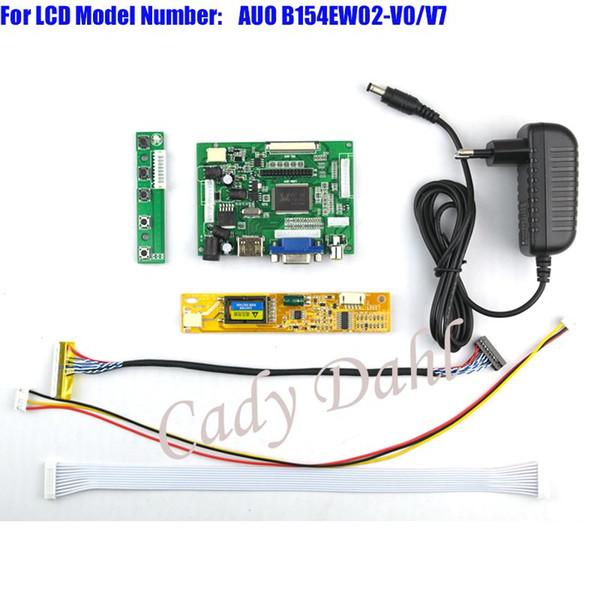 Freeshiping HDMI VGA 2AV LVDS Controller Board + Backlight Inverter + 30Pins Lvds Kits de cables para AUO B154EW02 V0 V7 1280x800 1ch 6 bit Panel LCD