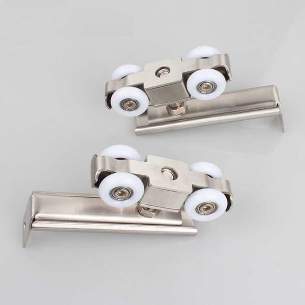 best selling 2 pieces door roller ultra-quiet wooden furniture sliding door pulley hanging track nylon wheel glass bearing door home building hardware