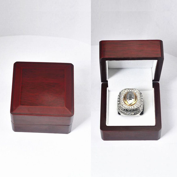 Who Can Beat Our Rings Box, High Quality Super Bowl and Basketball World Championship Ring Boxes - 6.6*6.6*4.5cm - Red Retro Style