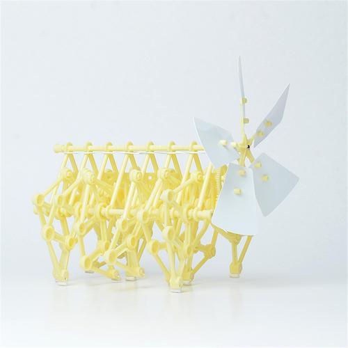 Mini Brinquedo DIY Kit Modelo Alimentado Por vento Mini Strandbeest Pequena Montagem Unisex Crianças Crianças 3-14 Anos De Idade