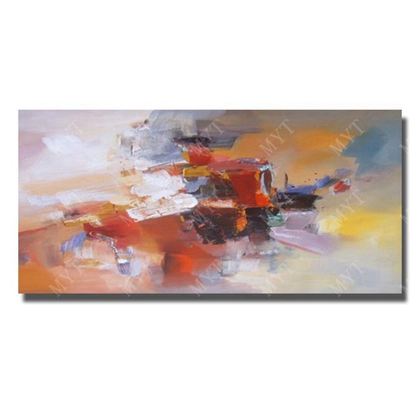 Hand drawing long szie abstract canvas oil painting modern by handmade Top quality abstract wall decor