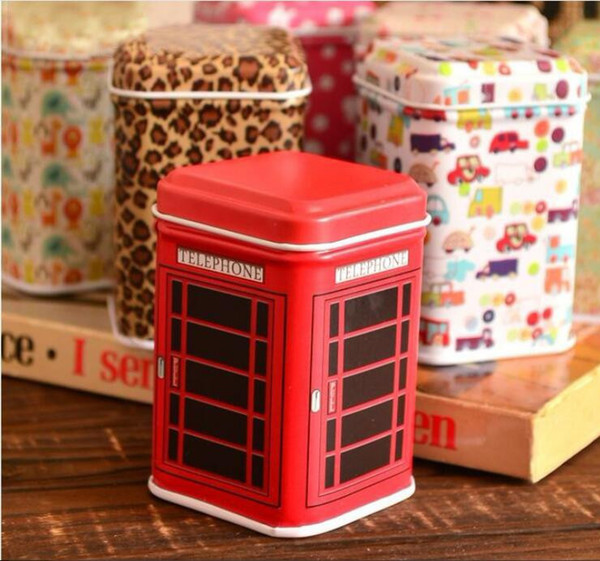 wholesale Metal Little Tin Box Cute Caddy Cartoon Storage Practical Mini Iron Square Tin Box Free shipping