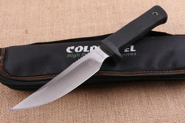 New Cold Steel Rajah 2 Fixed Blade Knife 5CR15MOV 60HRC G10 Handle Tactical Camping Hunting Survival Pocket Knife Military EDC Nylon Bag