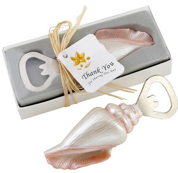 200pcs Sea Shell Openers Seashell Bottle Opener Sand Summer Beach Theme Shower Wedding Favors Gift in Gift Box
