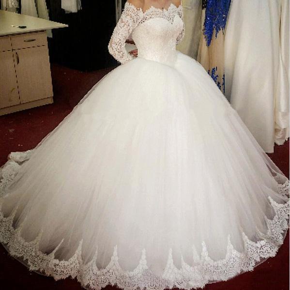 2016 Vintage Lace Ball Gown Wedding Dresses Applique Plus Size Off ...