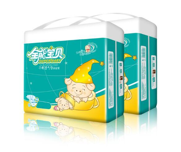 Lowest Price 2019 Factory sale Wholesale Baby Diapers Economy Pack Three-demensional leakproof locks in urine Ultra-Thin and soft W17JS376