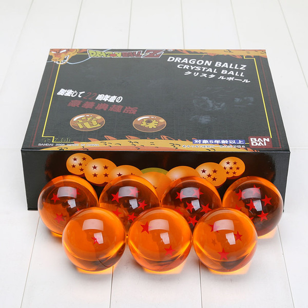 Nuova palla Dragon Ball Z da 5,7 cm Nuova scatola da drago Dragon Ball 7 stelle Set di 7 sfere Dragon Ball Z Set completo