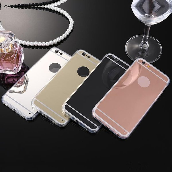 2018 For iPhone 8 TPU Mirror Case For Samsung Note 8 Electroplating Soft Case For iphone 7 6S Plus 5s Samsung S8 S7 edge Back Cover Cases