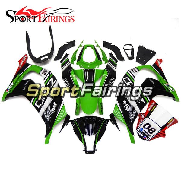 Carenados para Kawasaki ZX10R 2011-2015 11 12 13 14 15 Inyección ABS Plástico Motocicleta Carrocería Carenado ELF Verde Negro Accesorios