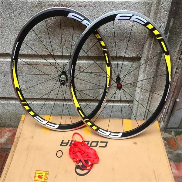 Best quality china bicycle carbon wheels FFWD F4R 38mm alloy brake surface road bike wheels 700C 23mm width cycling wheels free shipping