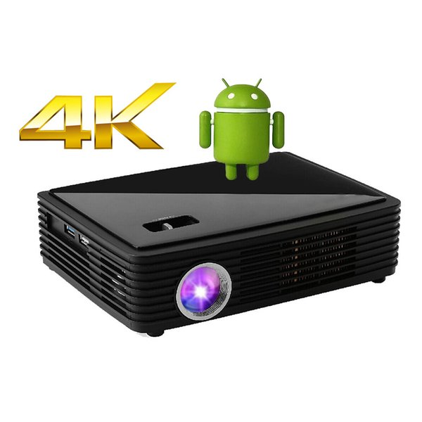 Wholesale-ATCO CT2000HD White 4K chipset 2205P Home Cinema Game 3D Projector Android smart Full HD DLP Projectors for Night Disco Club