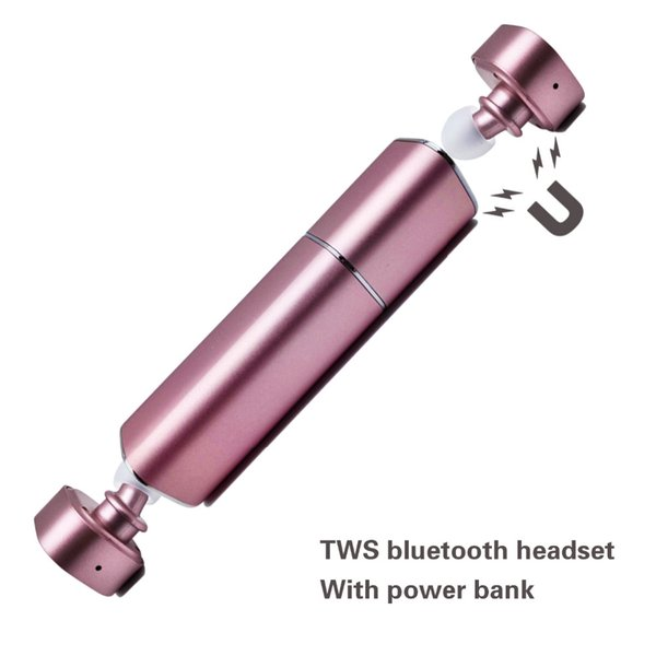 Güzel Twins Acil Kablosuz Şarj ile Kablosuz Bluetooth Kulaklık Pil V4.1 iPhone7 Akıllı Telefon için Mini Stereo Kulaklık Ahizesiz