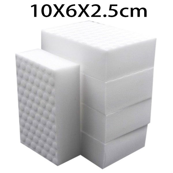 10*6*2.5cm 100pcs double compressed kitchen cleaning melamine sponge magic eraser cleaning accessory supplier for dish washing