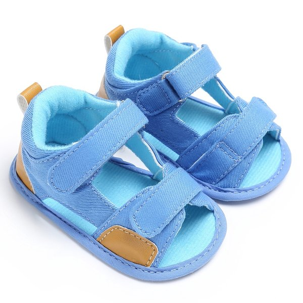 Wholesale- 2017 New Summer Breathable Baby Boys Kids Hollow Out Splice Color Anti-skid Casual Baby Canvas Cack Shoes