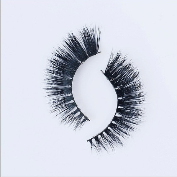 3D False EyeLash 5 Pairs Thick Black 100% Mink False Eyelashes Makeup Tips Natural Smoky Makeup Long Fake Eye Lashes