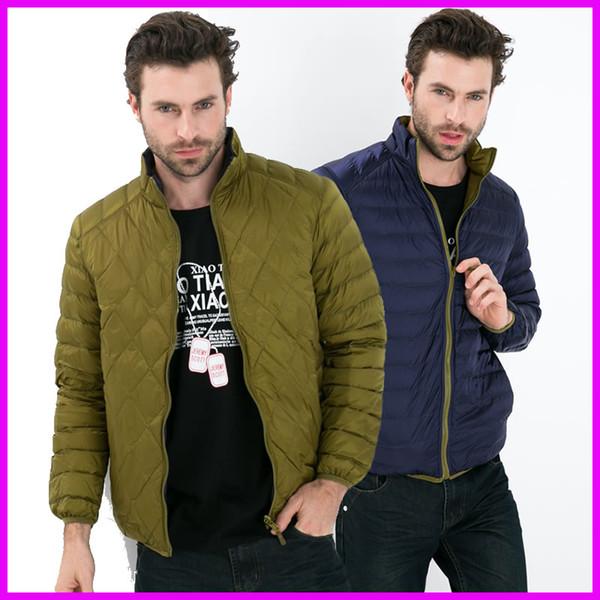 Wholesale- Winter Jacket Men Famous Brand Ultralight Down Coat Jackets White Duck Down Parkas 2016 Plus Size XXXL