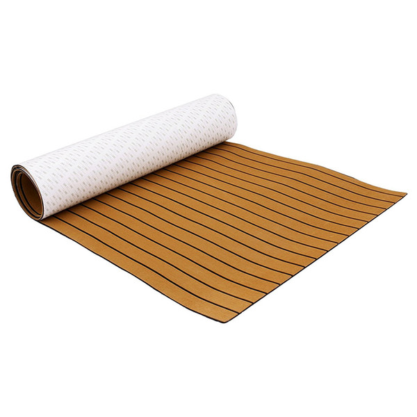 new fashion boat decking sheet 94.5 x 35.4 inch 6mm thick non-skid eva foam teak self-adhesive yacht deck pad mat