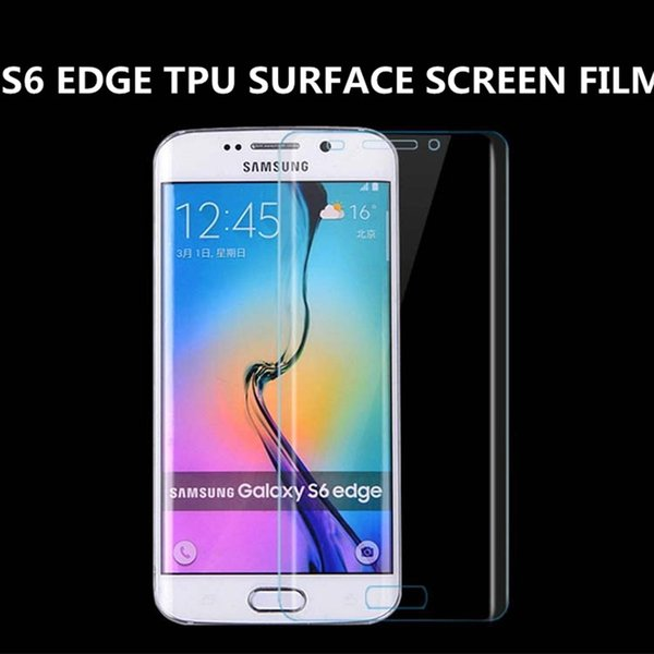 For Samsung S6 Cell-Phone TPU Surface Whole Cover Protect Screen Flim HD Film Prevent Privacy 3D Curved For Samsung S6 Edge