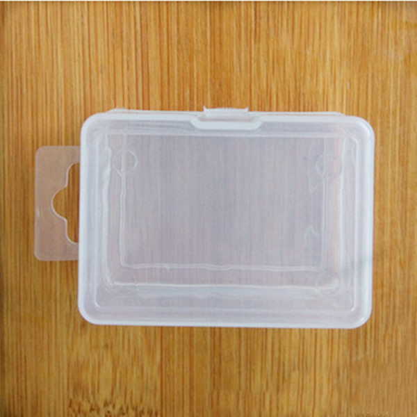 Transparent Plastic Storage Box For Coin Sample Container Jewelry Cosmetic Small Part Boxes Free Shipping ZA4000