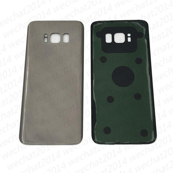 100 pcs oem bateria porta traseira tampa do vidro da caixa para samsung galaxy s8 g9509 g950p s8 mais g955p com adesivo adesivo