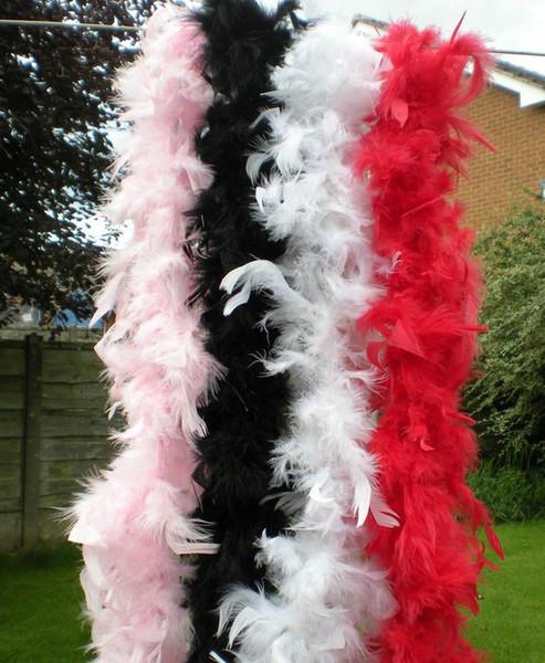 top popular Feather boa 200cm burlesque showgirl hen night fancy dress party dance costume accessory wedding DIY decoration 17colors 2020