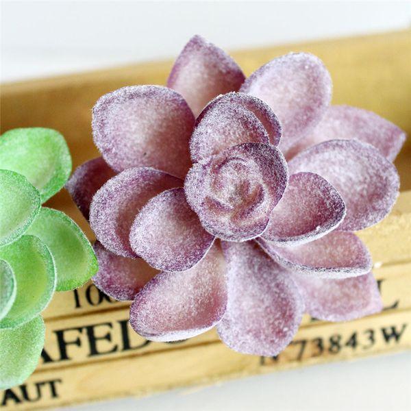 Gros- Simulation Lotus Lithops Fleurs artificielles ornements Violet Succulentes artificielles Plantes décoration de jardin DIY Accessoires E5