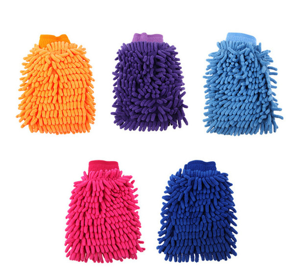Car Washing Cleaning Gloves Double Side Chenille Washer Tool Super Mitt Microfiber Cleaning Cloth Wholesale Free Shipping