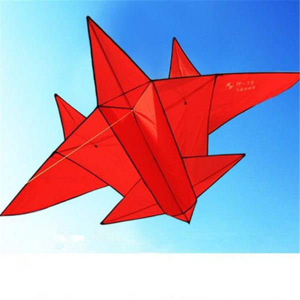 3D Kite Fighter Plane Sport Beach Toys Outdoor Game Play Adult Children Cartoon Kite Creative Playground Equipment Kids Toys Gifts Funny