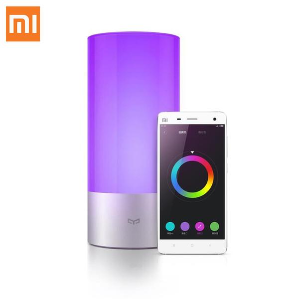 Atacado-Cool original Xiaomi Yeelight interior noite luz Dimmable cama lâmpada 16 milhões de toque RGB controle