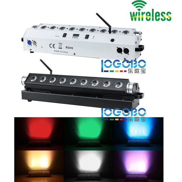 Cheap 2Pcs/lot 9x15w RGBWA 5 in 1 Wireless Battery Powered DMX LED Wall Washer Light for Wedding Reception Party Decor Event DJ Uplighting