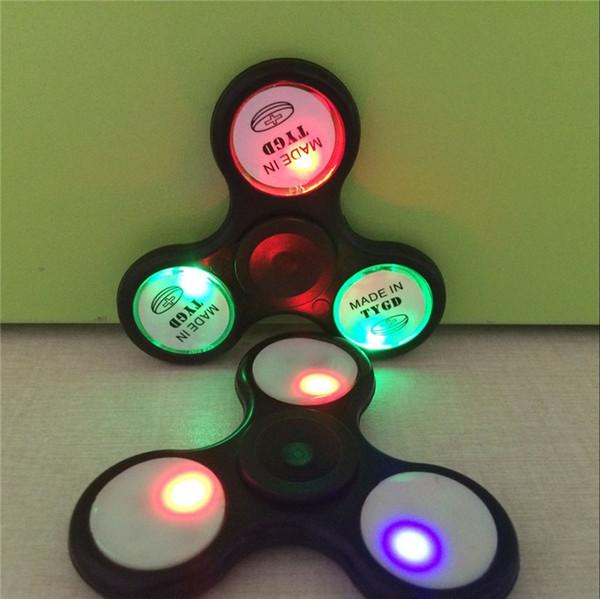 best selling 2017 LED Light Replacement Fidget Spinner Tri Spinner LED Light Sharp At Night
