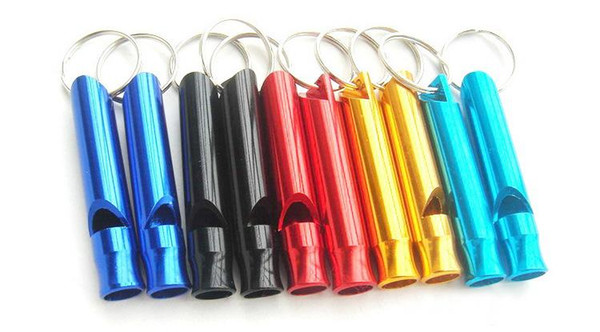 Aluminum small survival outdoor survival whistle whistle signal field help