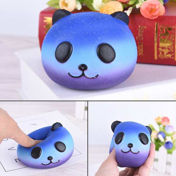 15Pcs/Lot 8CM Kawaii Emoji Colorful Face Panda Squishy Bread Slow Rising Fun Kid Toy Cartoon Cake Bun Phone Straps Charms