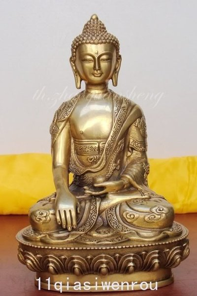 crafts China's Decoration Brass Metal Crafts Tibet Tibetan Buddhis shakyamuni bronze buddha statue