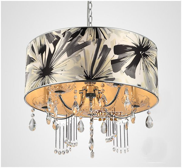 New arrival Crystal Pendant Light / Lamp / Lighting fixture with lampshade for Dining room and bedroom
