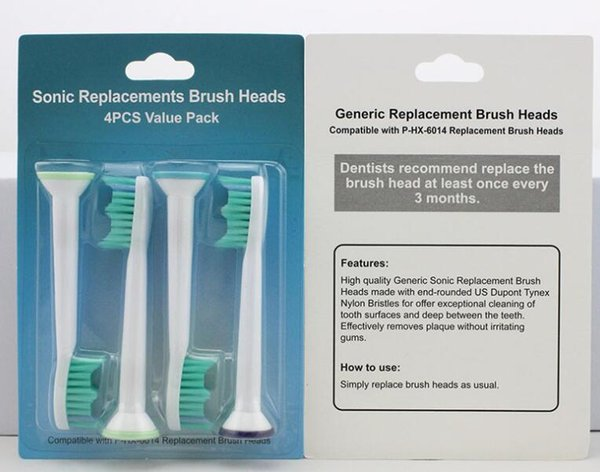 Electric toothbrush heads Compatible HX6014 HX6013 Brush Heads for Philips Sonicare Replacement heads 1600pcs