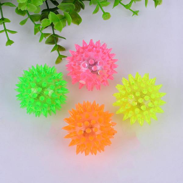 Hot light hedgehog flash massage ball plastic children toy factory outlets