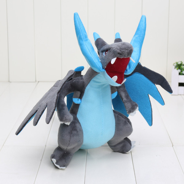 New 25cm CENTER Plush Doll Mega Charizard X Y pikachu plush toys Good Quality 10""