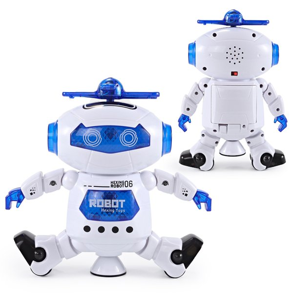 NEW Item Dancing Robert Electronic Toys With Music And Lightening Best Gift For Kids Model Toy Fast Free Shipping