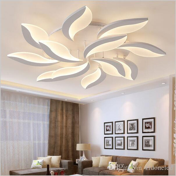 Neues design plafond avize acryl moderne led deckenleuchten für wohnzimmer arbeitszimmer schlafzimmer lampe innendeckenleuchte