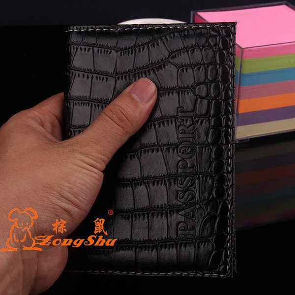 PU Man-Made Leather Passport Cover Holder Protector - Alligator Embossing Travel Passport Case Men Women ID Credit Card Holder Wallet