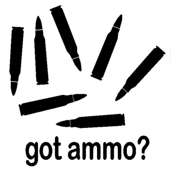 12.5CM*12.7CM Got Ammo Gun Vinyl Decal Cool Car Sticker Car Accessories Cartoon Car Styling