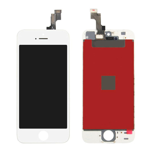White Complate LCD Display Touch Screen Digitizer W/Frame Assembly Replacement for iPhone 5S Repair Replacement Parts