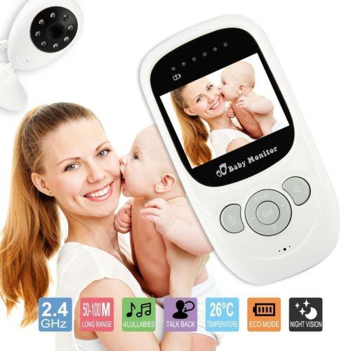 Wireless 2.4GHz Digital Color LCD Baby Monitor Camera Night Vision Audio Video Recording Cam