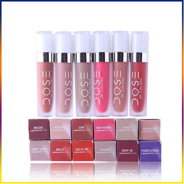 Dose Of Colors Liquid Matte Lipstick Waterproof Lip Gloss makeup various colors Liquid 12 Colors in stock