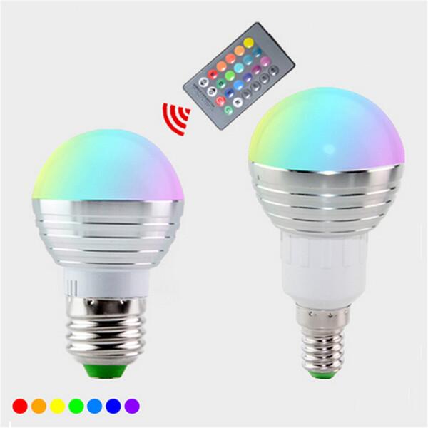 E27 E14 LED 16 Farbwechsel RGB Magic Glühbirne Lampe 85-265V RGB Led Licht Scheinwerfer + IR Fernbedienung