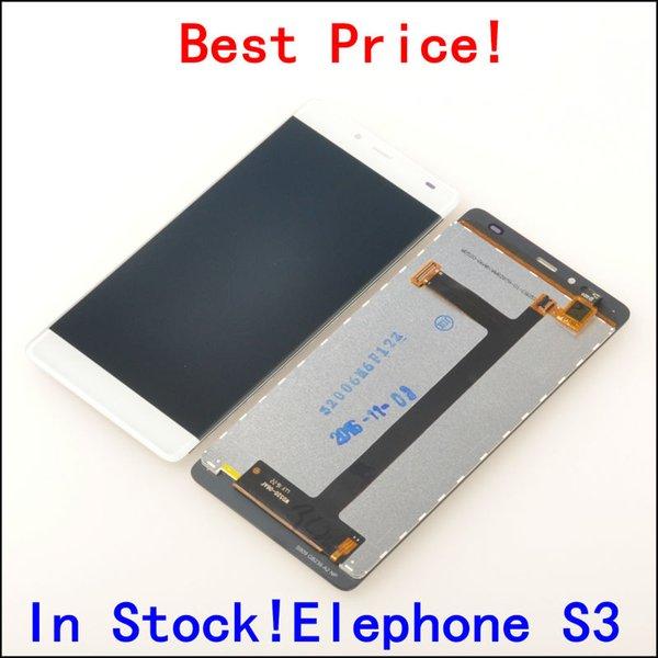 Atacado- Display LCD + digitador Assembléia Touch Screen para Elephone S3 Celular 5.2