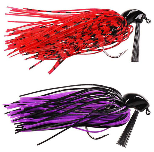 1pcs Soft Silicone Beard Weedless Jig Head Fish Lure 10g octopus squid Bait Isca Artificial Fishing Tackle