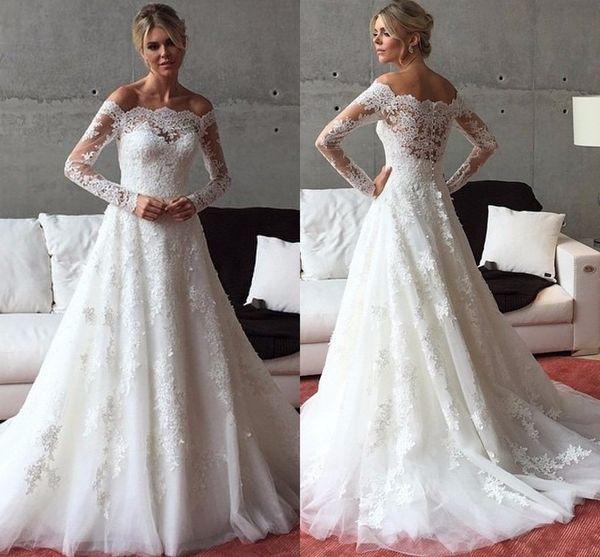 Discount Vintage Victorian 2017 Wedding Dresses Long Sleeve A Line ...